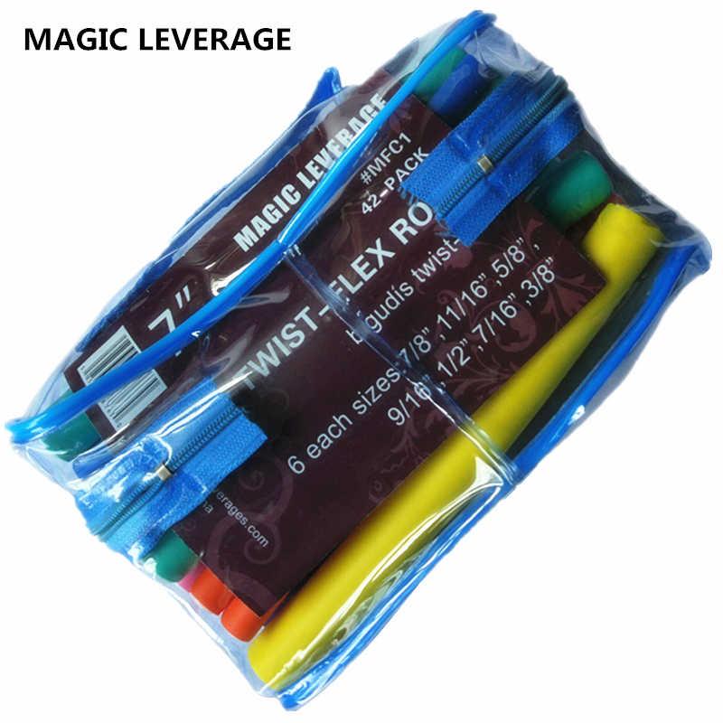 Волшебное плечо 42 шт./упак. пенообразователи бигуди для волос с ПВХ мешком
