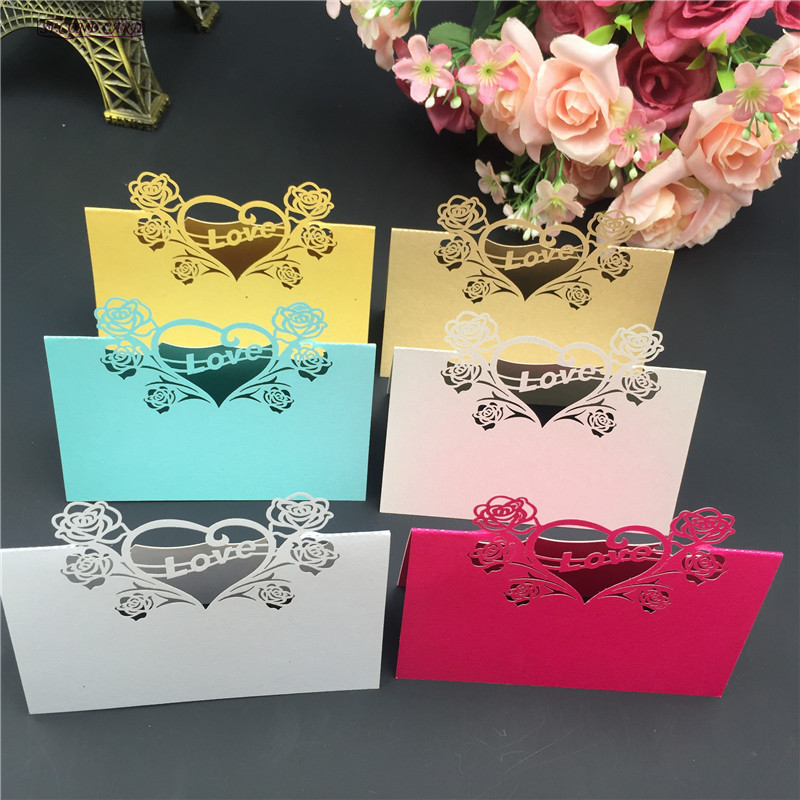 Buy 40pcs new design love heart table for Design table name cards