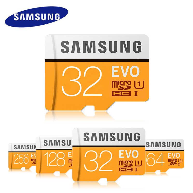 سامسونج مايكرو SD بطاقة 128GB 256GB 64GB 32GB 512GB 100MB ذاكرة بطاقة Microsd فلاش TF بطاقات البسيطة U1 U3 4K EVO ل هاتف محمول