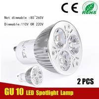 2 pcs Super Bright Spot Light 3W GU10 LED Bulb 110V 220V LED Spotlight Cool White GU 10 Bedroom Living Room Bathroom LED Lamp