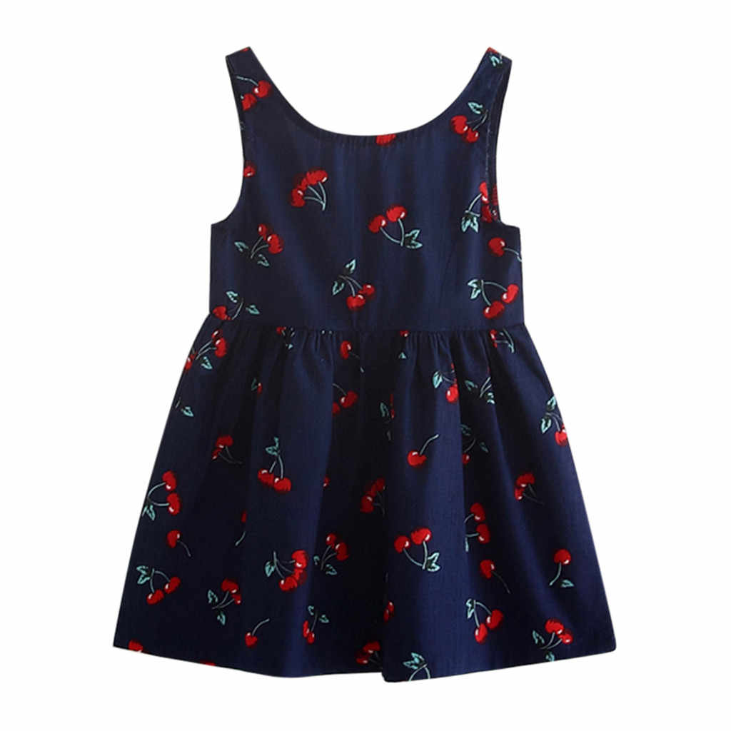 2019 New summer babys Dress Toddler Girls Summer Princess Dress Kids Baby Party Wedding Sleeveless Dresses vestido infantil