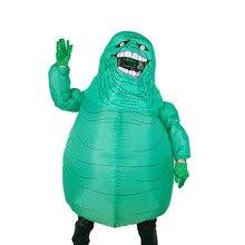 Vuxen Halloween Skräckdräkter Uppblåsbara Film Ghostbusters Kostym Blow Up Scary Green Slimer Ghostdräkt för kvinnor Disfraz