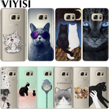 VIYISI Cute Cat Animal Phone case For Samsung Galaxy s8 A5 2017 Case S9 Plus Cover J7 J5 J3 A3 2015 2016 S6 S7Edge Coque