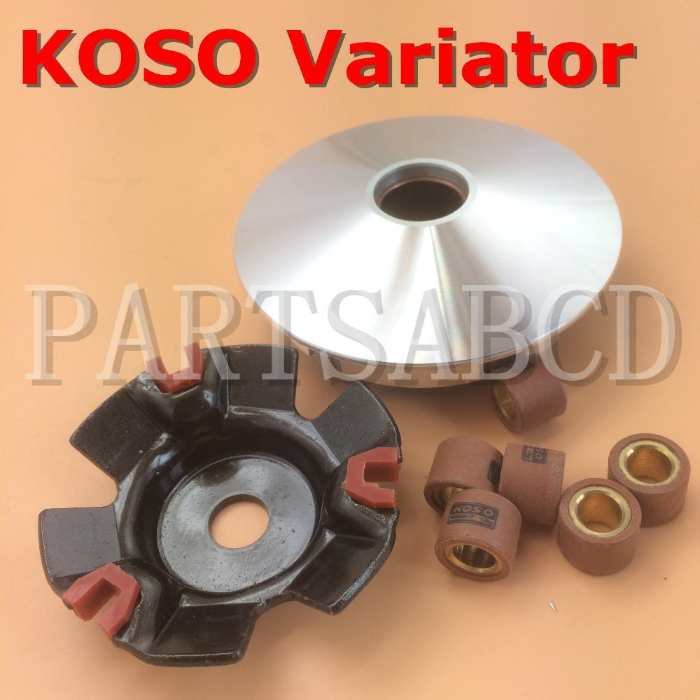 Methodical Partsabcd Gy6 125cc 150cc Drive Clutch High Performance Koso Variator With 12g Roller For 150cc Scooter Go Kart Atvs Fancy Colours Atv Parts & Accessories