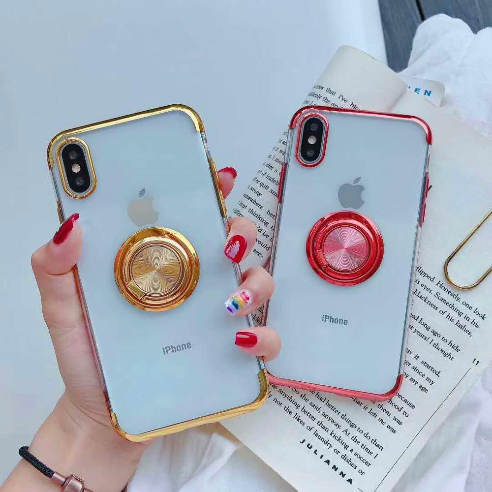 Magnetic Case For iphone 6s 6 s Plus iphone XR X 360 Metal Finger Ring Plating Case For iphone 8 7 Plus iphone XS MAX Cases XR 6 iphone xr case magnetic