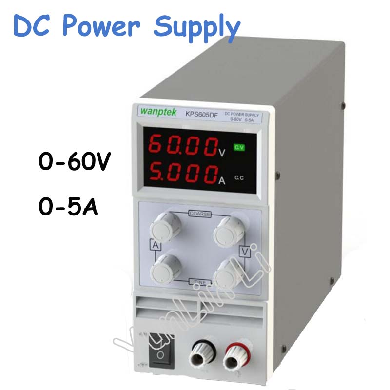 0-60V/0-5A DC Power Supply 110V-230V 0.1V/0.001A LED Digital Adjustable Switch Voltage Regulators KPS605DF cps 6011 60v 11a digital adjustable dc power supply laboratory power supply cps6011