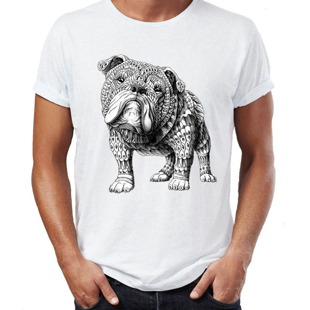 ce48f74b771a 2018 Hip Hop T Shirt Men Male Best Selling T Shirt Aztec Bulldog Dog Design  Boho Swag Vogue Hipster Indie Cotton T Shirt