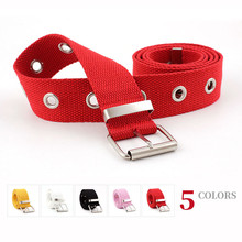 HUOBAO New Fashion Women Canvas Belts Hollow Out Air Hole Style Decoration Belt  Unisex Casual Solid Color Corset
