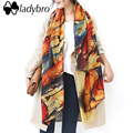Ladybro Winter Graffiti Imitation Cashmere Scarf Women Brand Shawl Oil Panting Scaves Large Pashmina Fashion Soft Wrap Female