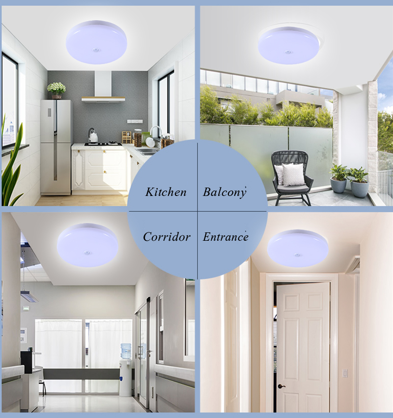 Surface Mounted LED Ceiling Lamps PIR Motion Sensor Night Lighting 12/18W Modern Ceiling Lights For Entrance Balcony Corridor