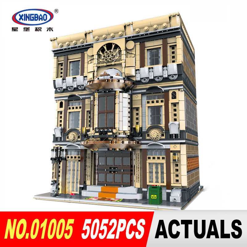 XingBao 01005 5052Pcs Genuine Creative MOC City Series The Maritime Museum Set Building Blocks Bricks Toys Model DIY Gifts maritime safety