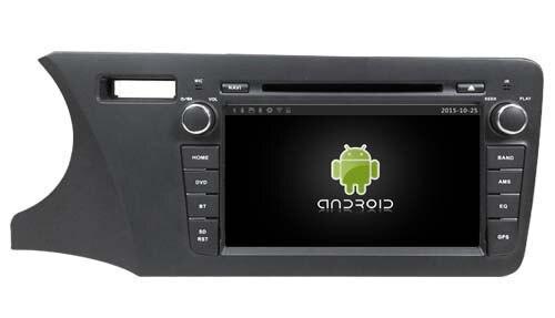 Android6.0 quad core 1024*600 car dvd player media stereo radio gps navi 4G lite TPMS obd DVR headunit for Honda City 2014 LHD