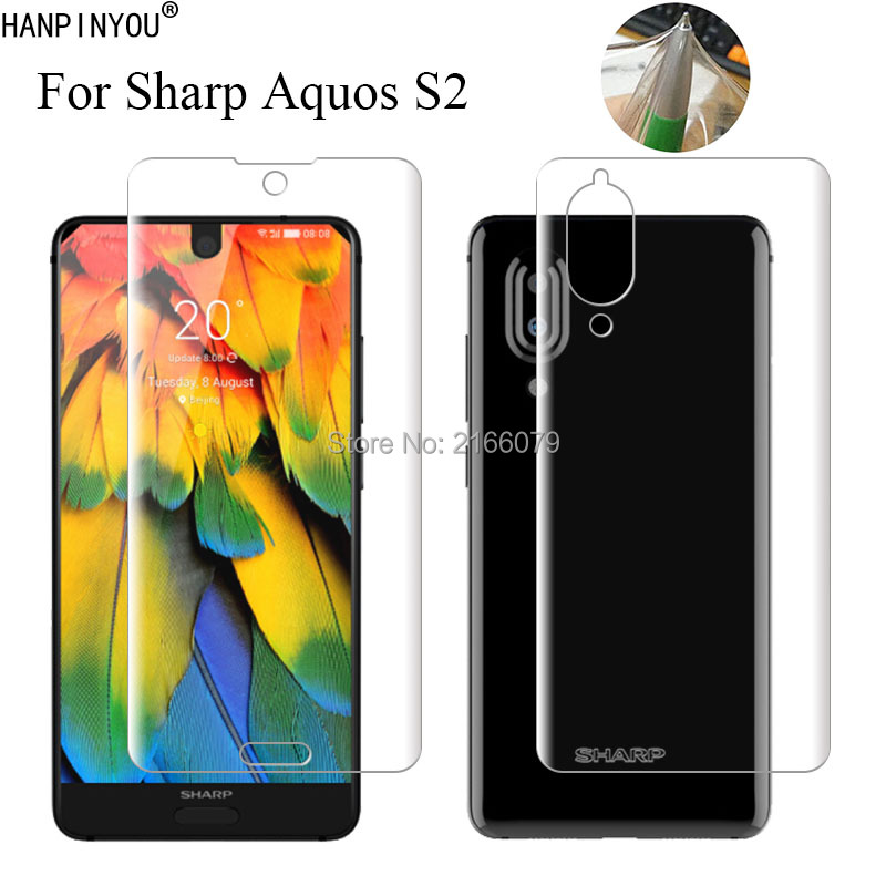 """For Sharp Aquos S2 5.5"""" Soft TPU Front Back Full Cover Screen Protector Transparent Protective Film + Clean Tools"""