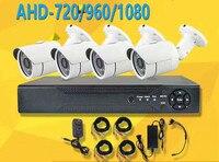 4CH AHD Security Camera System CCTV Kit 1080N DVR Video Recorder 720/960/1080P AHD Camera Optional