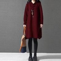 CELMIA 2018 Fashion Solid Lapel Long Sleeve Vestidos Casual Vintage Plus Size M 5XL Baggy Plate