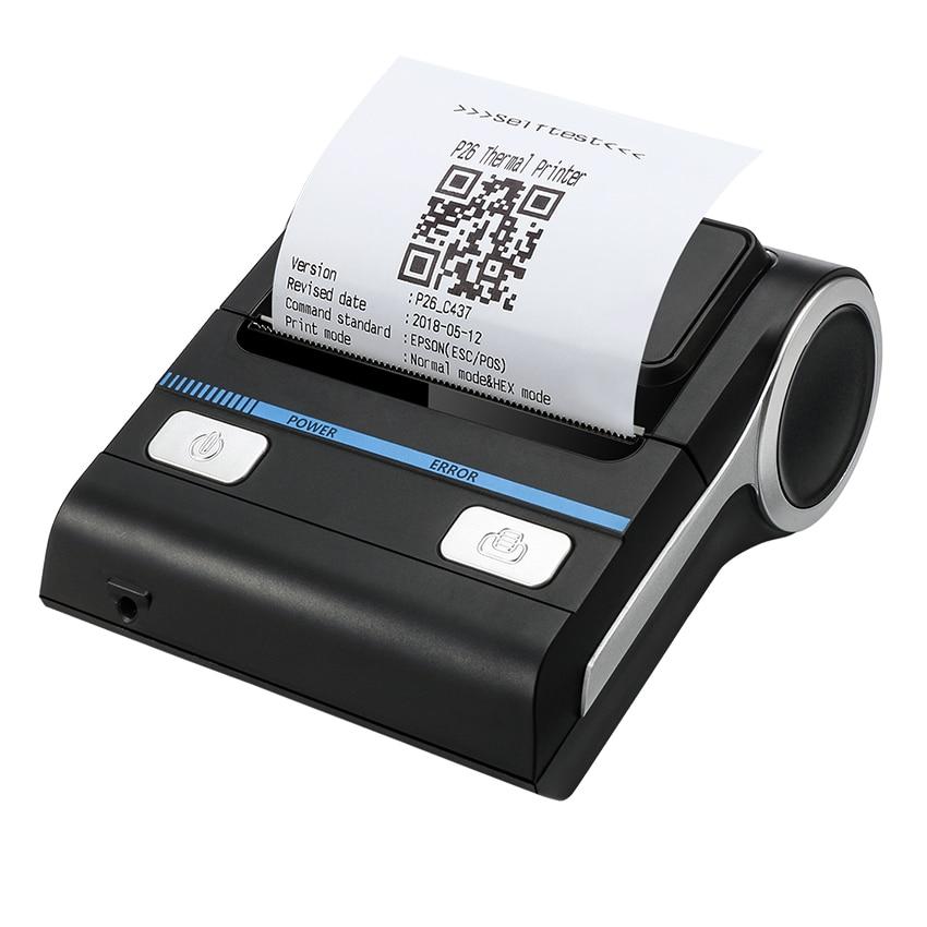 Jalon imprimantes Bluetooth imprimante thermique POS Android 80mm reçu facture imprimante Portable sans fil Machine d'impression MHT-P8001