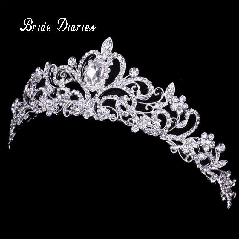 Diademe und Kronen Hochzeit Haar Zubehör Tiara Braut Crown Hochzeit Diademe für Bräute Haar Ornamente