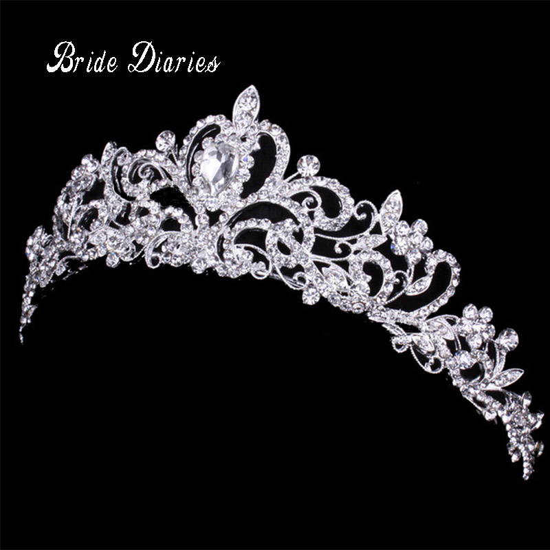 Tiaras and Crowns Wedding Hair Accessories Tiara Bridal Crown Wedding Tiaras for Brides Hair Ornaments black and coffee 2 colors hair tiara ancient chinese emperor or prince costume hair crown piece cosplay use for kids little boy
