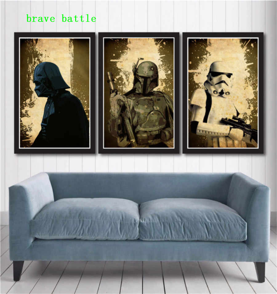HD Printed Pictures Painting Wall Art Frame 1 Piece/Pics Star Wars Poster Set Modern Canvas Living Room Home Decor Poster