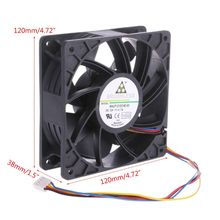 High speed Cooling Fan 120x120x38mm Brushless DC12V 2.7A 7-Blade 12038 For Delta QFR1212GHE