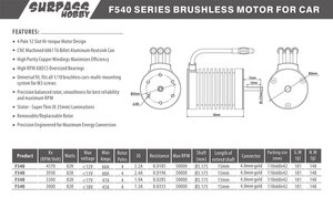 Image 5 - F540 3.175mm Brushless Motor 3000KV 3300KV 3930KV 4370KV for 1/10 RC Tamiya Axial Redcat HSP Drift Racing Off road Car