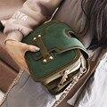 Clásico de La Vendimia Verde Bolso de Las Mujeres Messager Pequeñas Cadenas Bolsos Crossbody Bolsos de Moda Los Bolsos de Hombro Bolsos de Mujer