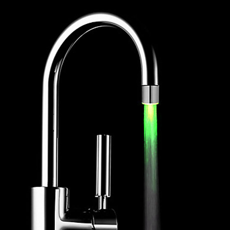 Hot selling 7 Colors changeable ABS led faucet light Colorful Color Faucets Nozzle Spouts with adapter for Kitchen in Kitchen Faucet Accessories from Home Improvement