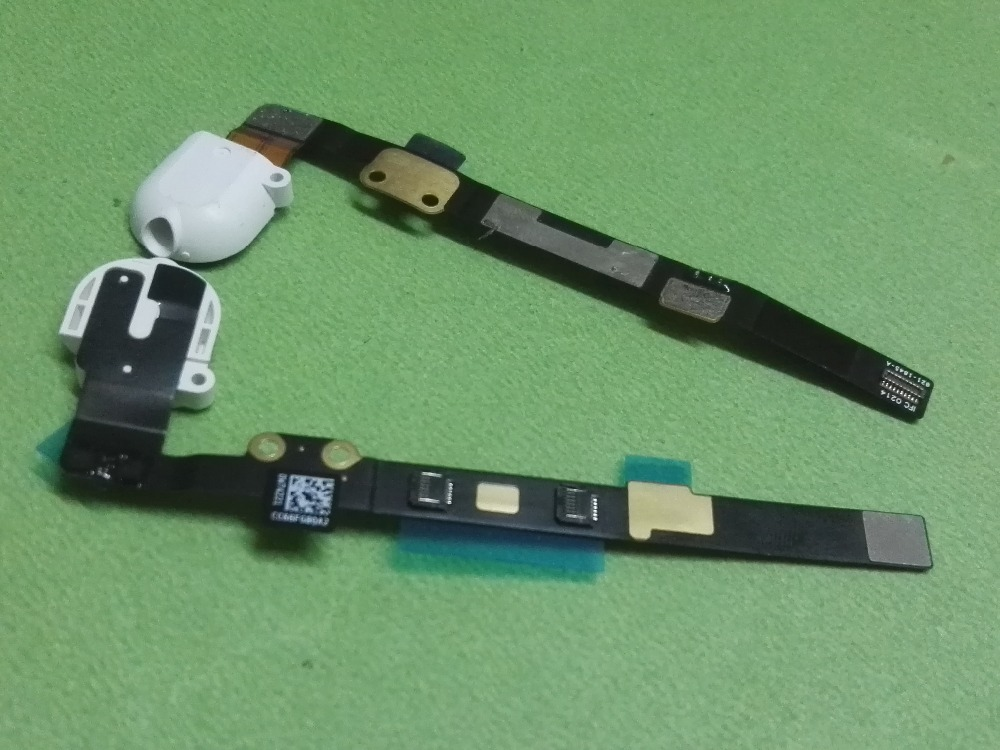 5pcs Ear Headphone Audio Jack port Flex Cable Ribbon for ipad mini 3 2 A1599 A1600 A1489 A1490 mini3 mini2 earphone white black