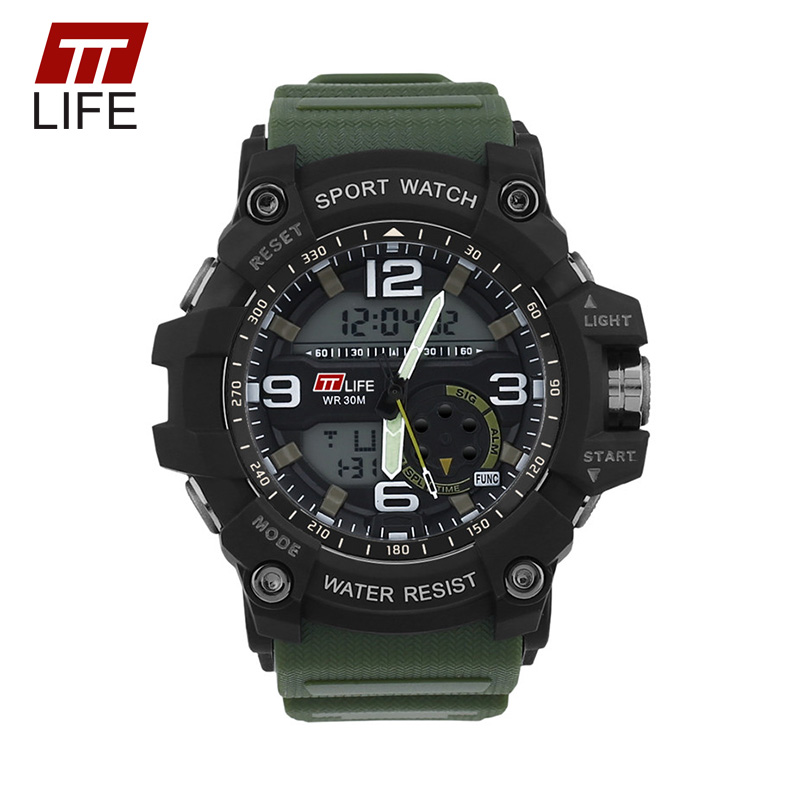 TTLIFE Men G Style Waterproof Sport Watch Big Size Analog ...