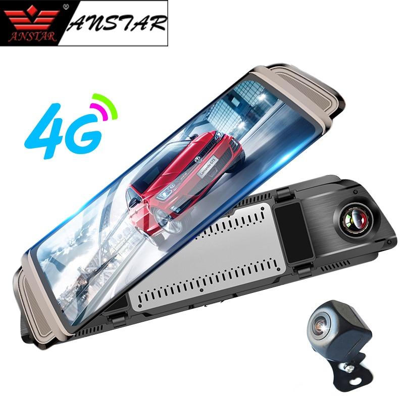 Anstar 10 3G 4G Car DVR Android Dual Lens HD 1080P WiFi Car Camera GPS Navigation Video Recorder Dash Cam Rear view Mirror DVR