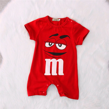 2018 New Summer Clothes Baby Boy Girl Newborn Baby Clothing Cartoon Printing Short Sleeved Jumpsuit Romper Conjoined 1