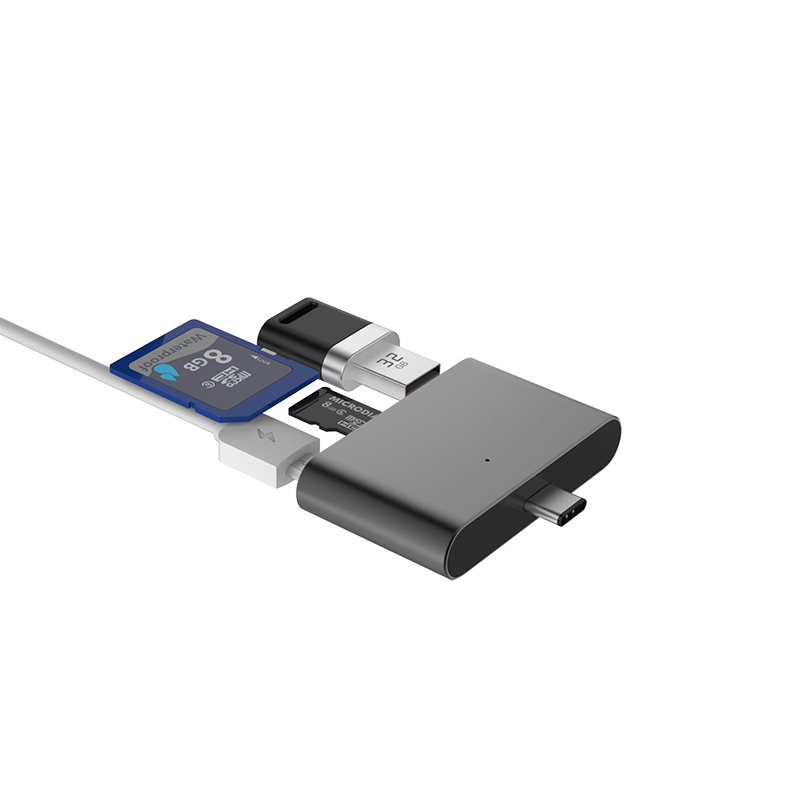Micro Adapter HUB 4-in-1 Card Reader USB//TF//SD OTG For Samsung Galaxy J7 Max