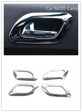For Peugeot 3008 2009 – 2015 ABS Chrome Interior Door Handle Bowl Frame Cover Trim 4pcs Car Styling accessories!