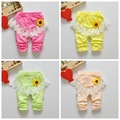 0-2 Years spring Baby Girls Leggings Floral Print Casual lace Pants for Kids clothing Cotton Warm Children's Trousers