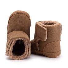 Зимние ботинки; ботинки из искусственной кожи для маленьких девочек и мальчиков; Повседневная обувь; обувь для прогулок; милая нескользящая обувь на мягкой подошве для новорожденных; y13