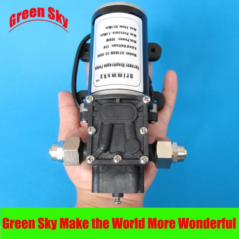 100W 12V DC fog/spray/misting,spraying pesticide,farm,greenhouse,garden irrigation use high pressure misting systems water pump