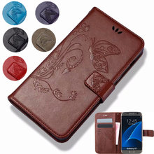Butterfly Cover PU Leather Flip Cover Wallet Case For Vernee Thor E Plus X Apollo Lite Case Flip Protective Phone Cases(China)