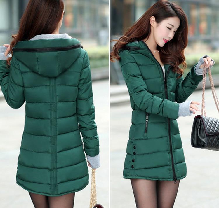 HTB1hs7pXrsTMeJjSszdq6AEupXaU 2019 women winter hooded warm coat slim plus size candy color cotton padded basic jacket female medium-long  jaqueta feminina