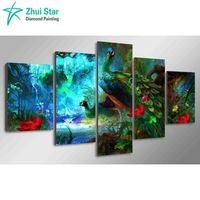 Zhui Star 5D DIY Diamond Painting Crystal Square Rhinestone Pasting Home Decor Painting 3d Diamond Embroidery