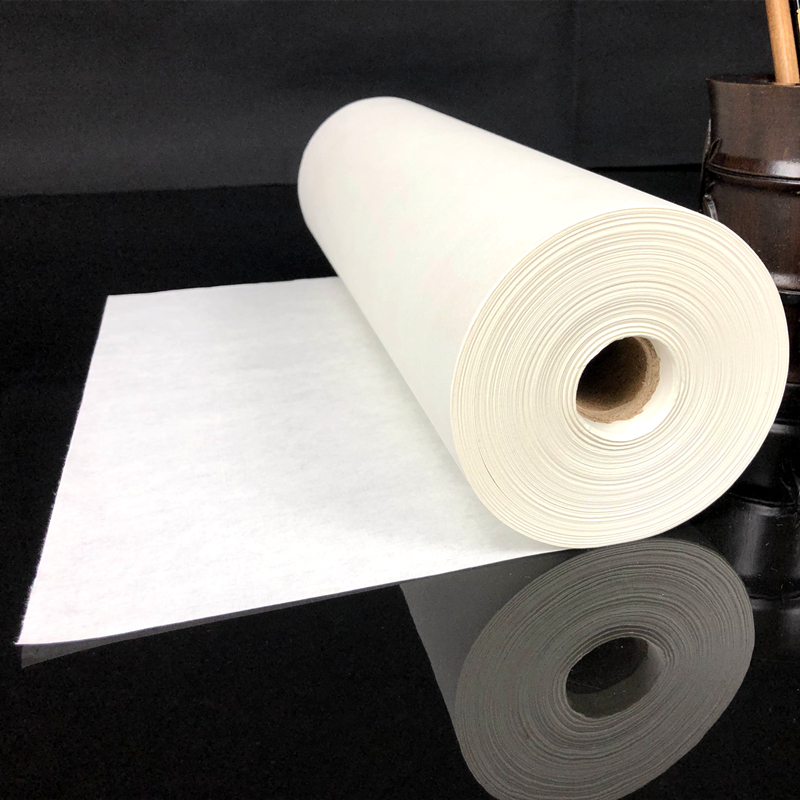 100m Long Rice Paper Chinese Calligraphy Writing Half-Ripe Xuan Paper Chinese Traditional Ink Landscape Painting Ripe Xuan Paper
