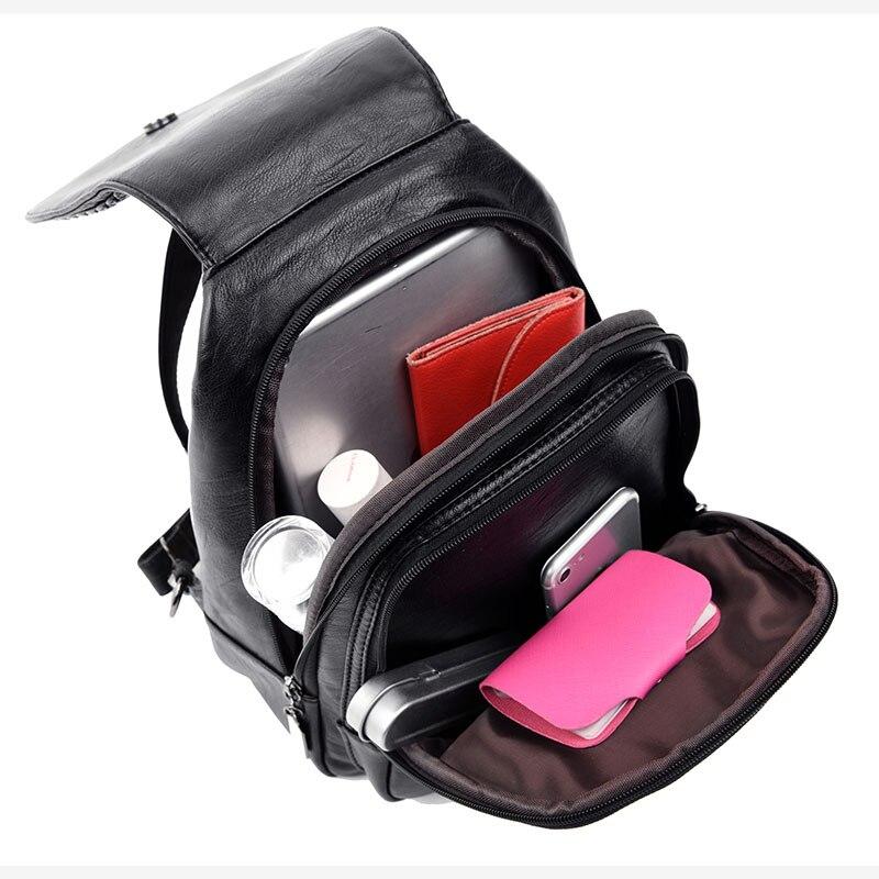 HTB1hs8IlDCWBKNjSZFtq6yC3FXa0 Women Leather Backpacks Zipper Female Chest Bag Sac a Dos Travel Back Pack Ladies Bagpack Mochilas School Bags For Teenage Girls