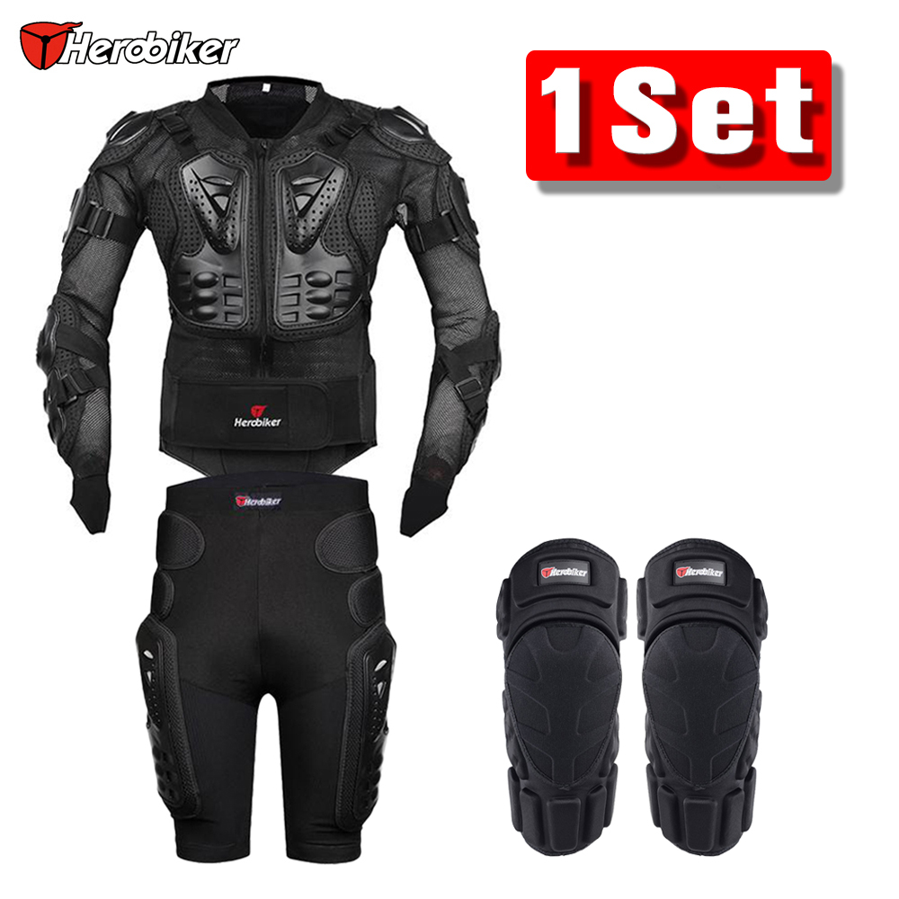 Herobiker Motorcycle Jacket Motorcycle Body Armor Protective Gear Protection Knee Pads Moto Pants Motocross Racing Shorts scoyco motorcycle jacket motocross protection protective gear moto jacket motorcycle armor racing body armor black moto armor