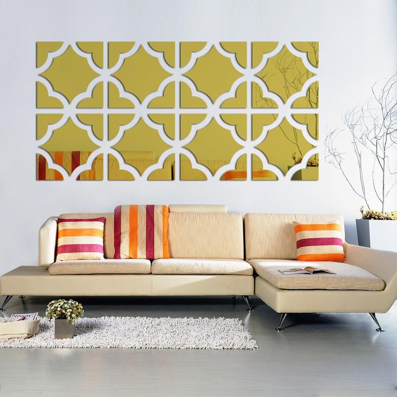 Les nouveaux autocollants muraux chauds acrylique miroir autocollant décor à la maison vinilos paredes3d autocollants chambre décoration europe bricolage art mural
