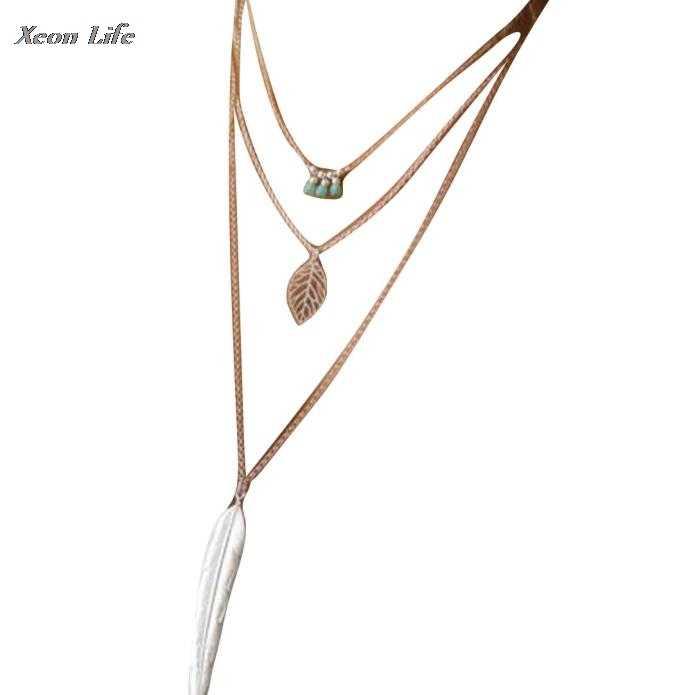 Women Multilayer Irregular Pendant Chain Statement Necklace