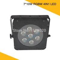 Светодиодный Quad номинальной свет 7 шт * 10 W светодиодный RGBW 4IN1 светодиодные par прожекторы может для сценическое для ночного клуба размытый св