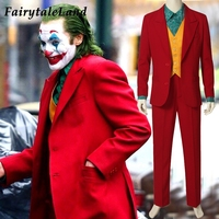 2019 Movie Joker Arthur Fleck Cosplay Costume Fancy Carnival Halloween Costumes Batman Cosplay Joker Costume Red Suit