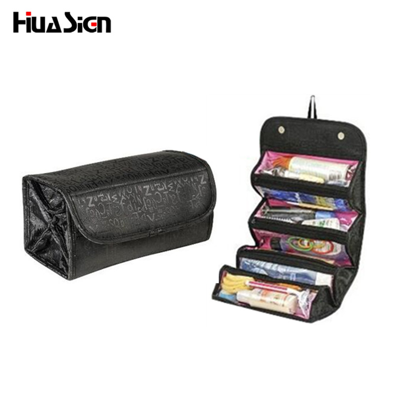 2017 Multifunctional Portable Women Makeup Bag Storage Organizer Box Beauty Case Travel Pouch roll n go Cosmetic Bags multifunctional car storage box container beige