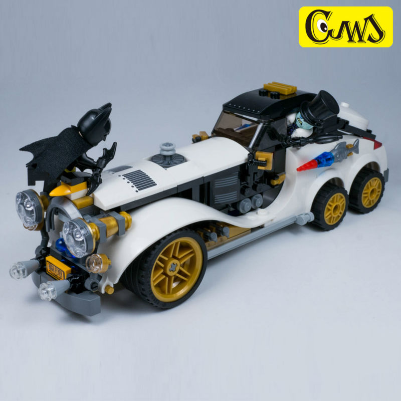 Lepin 305Pcs 07047 Genuine The Batman Movie Of Penguin Arctic Roller Set Blocks Bricks Toys Model Gift withlego 70911