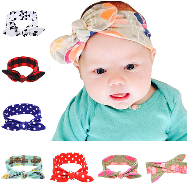 14pcs/lot Design Print Top Baby headband 14 Fashion Cotton Hair ...