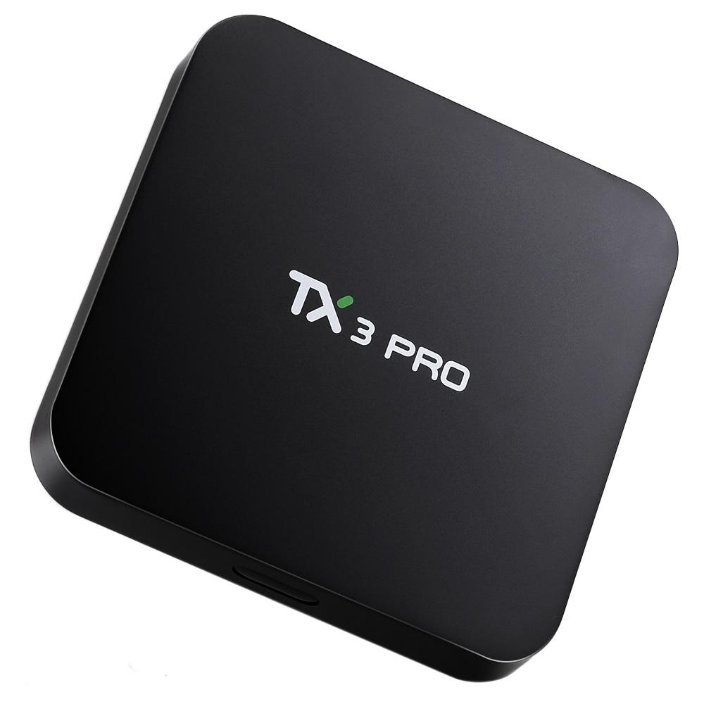 Original TV BOX TX3 Pro Amlogic S905X Quad Core 4K 1GB 8GB Android 6.0 2.4G WiFi Multi-media Player Set-top Box Smart rikomagic rkm mk06 tv set top box amlogic s905 quad core android 5 1 1gb 8gb 2 4g wifi bluetooth 4 0 smart media player tv box